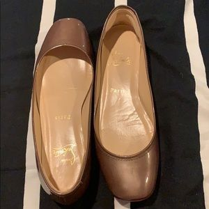 Brown Christian Louboutin flats *mint condition*